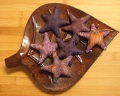 Primitive Haunted Halloween Purple Star Bowl Filler Decorations