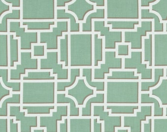 Michael Miller 1 yard- Mod Lattice - Seafoam- BTY - More available-BTY