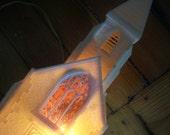 Vintage Light Up Church Music Box