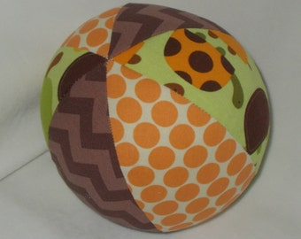 Green Turtles Fabric Boutique Ball Rattle Toy