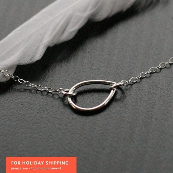 the year of wonder - silver teardrop necklace by elephantine