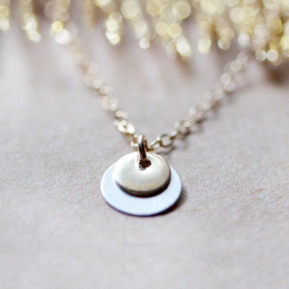 zoe - gold and silver coin necklace by elephantine
