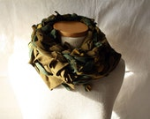 ready to ship // neck scarf / green and yellow / by replicca / one size