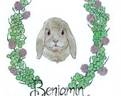 Custom Pet Portrait (Bunny Sample)