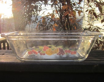 Vintage Loaf Dish/ Baking Dish - Anchor Glass Ovenware