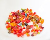 Orange Vintage Bead Mix