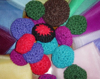 Scrubbies 10 Nylon Net Dish Scrubbers Double Sided Scratchy Ones