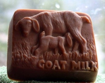 Vanilla Oil Added Goat Soap, Goat's Milk Soap,Abby and Nora the Soap, Goat and Kid Soap, Scented Goat Soap, Handmade Soap, Montana Made Soap