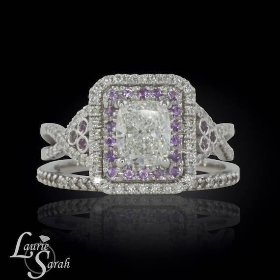 1 25 carat Rectangle Cushion Cut Diamond by LaurieSarahDesigns