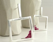 Lantern of Broken Rubies Sterling Silver Earrings