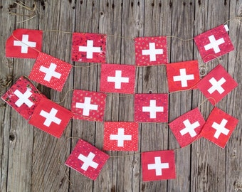 Swiss Flag garland
