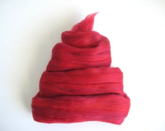 Color Fusion - 19 Micron Merino Top -  Cardinal - 4oz