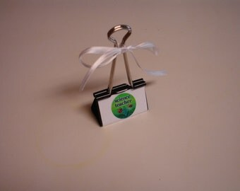 LARGE binder clip recipe - gift card - photo holder SCIENCE TEACHER
