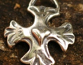 Mission Cross Charm in Sterling Silver -150