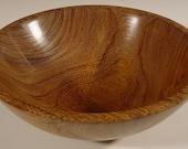 Exotic Brownheart or Partridge Wood Bowl Wooden Bowl Number 5574