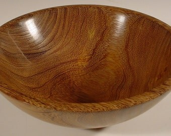 Exotic Brownheart or Partridge Wood Bowl Wooden Bowl Number 5574