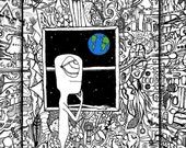 Moon Room print of original illustration by seth.