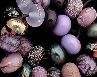 DSG Beads Handmade Organic Lampwork Glass - Made To Order (Whimsy Iris)