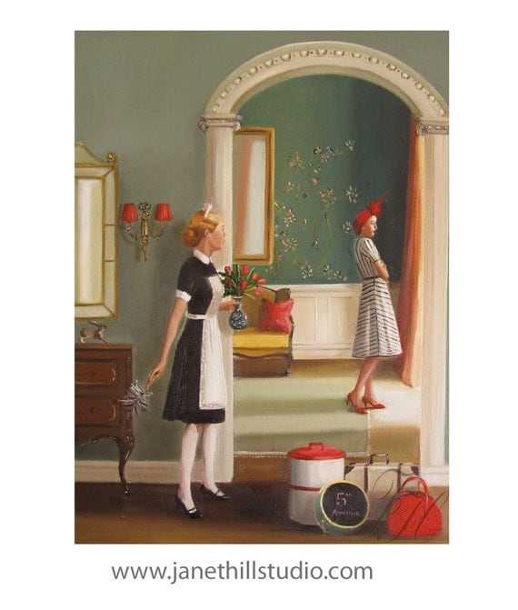 The Westlakes Surprise The Maid When They Decide To Be Spontaneous For Once And Go On A Holiday- Limited Edition Print