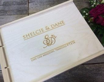 Alternative First Wedding Anniversary Gifts : , Anniversary Wine Box, 3 Bottles, Wedding Keepsake, Anniversary Gift ...