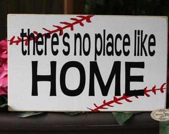 Theres No Place Like HOME Baseball Softball Wall Art Sign