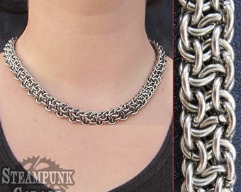 Necklace - Vipera Berus (Basketweave)