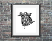 typography map art New Br...
