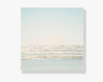 Beach Photo Canvas art, beach decor, pale blue decor, beach photography, ocean photography, beach photo canvas - In Our Dreams