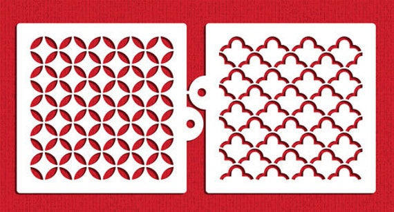 Quilting Miniprint Cookie Stencil Set For Cookies Cupcakes