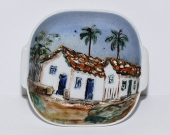 Vintage Porcelain Dish from Embu in Brazil, circa 1976