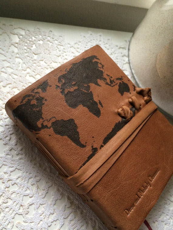 Items Similar To Made In Usa Stamped World Map Leather