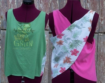 Size M It's Easy Being Green Upcycled Tank Top DIY