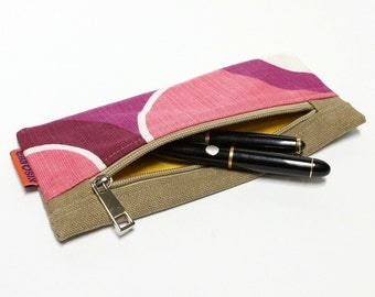 Pencil Pouch - handmade with love from vintage fabric - retro pencil case