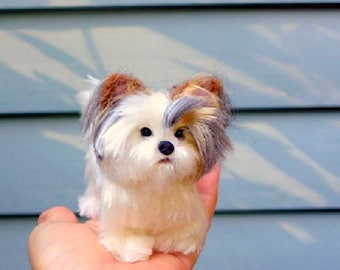 OOAK Handmade Custom Pet Portrait / Your Pet in Miniature  / Fully poseable / example Biewer Yorkie
