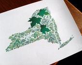 New York - State Tree print 11x14