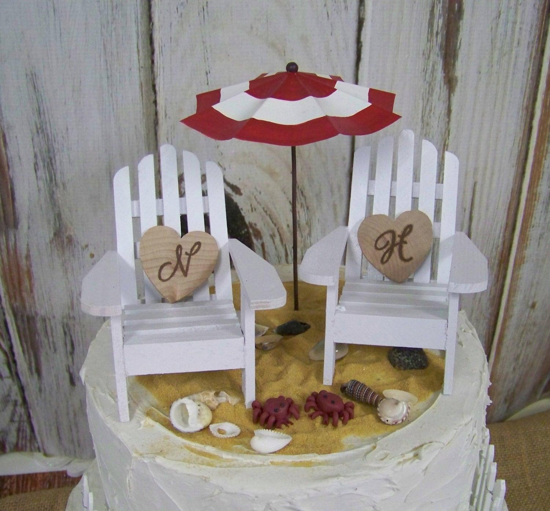 Beach Wedding Cake Topper Adirondack Cake Topper Beach