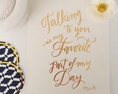 Talking to You Print - GOLD FOIL