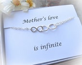 Infinity Bracelet for Mom with card SET, Infinite Love bracelet, Infinity Gift, Infinity Jewelry, Mom to Be Bracelet, Grandma Bracelet Gift