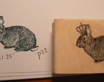 P37 Royal rabbit rubber stamp WM