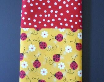 Lucky Ladybugs- Travel Pillowcase- Free US Shipping