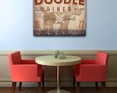 Goldendoodle Labradoodle doodle Dog kitchen diner artwork on gallery wrapped canvas by Stephen Fowler Pick Your Breed