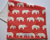 Closeout Sale- Organic Burp Cloth - Coral Ellie