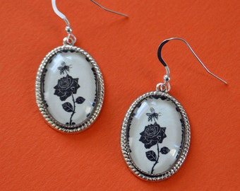 Sale 20% Off // The BEE and The ROSE Earrings // Coupon Code SALE20
