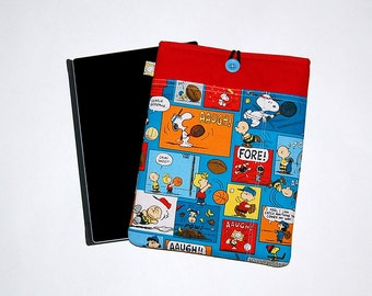 MacBook / iPad / Microsoft Surface Padded Sleeve Cover - Handcrafted from Peanuts Cartoon Fabric