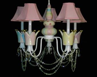 Girl's Room Crown Chandelier, Kids Chandelier Lighting, Crown Decor