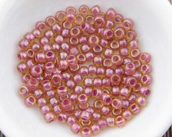 TOHO Seed Beads, Pink Seed Beads, size 6 Toho seed beads, 6/0 TOHO #960 Pink Seed Beads, 16 grams