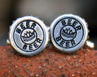 Cufflinks - Cuff Links - Beer Cap