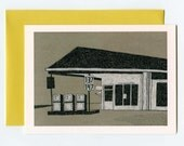 Folk Art North Carolina Country Store Illustrated Greeting Card