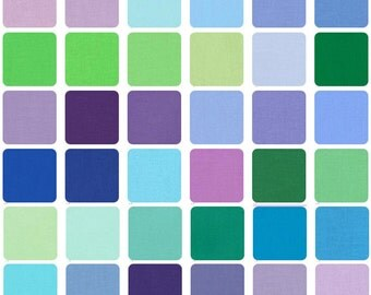 "SQ95 Robert Kaufman Kona Cotton Sunset Solids Precut 5"" Fabric Cotton Quilting Fabric Squares CHS-158-43"