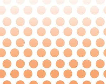 SALE Riley Blake Orange Ombre Dot
